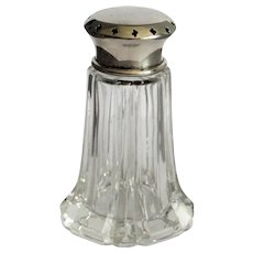 English Silver-Plate & Crystal Sugar Shaker