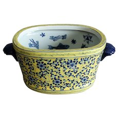 Chinese Porcelain Foot Bath with Koi Fish