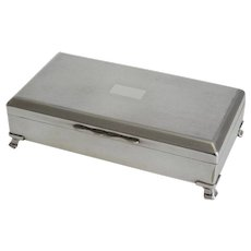 Art Deco Style English Silver Plate Table Box