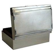 English Art Deco Sterling Silver Table Box, Hallmarks