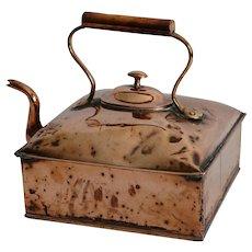 Large Antique Ship Captain's Nautical Teapot Copper
