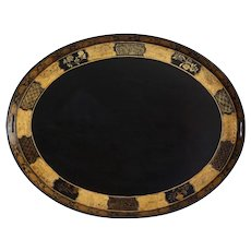 Antique English Regency Chinoiserie Papier Mache Serving Tray