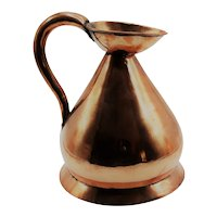 Antique English Copper Haystack Measure Pitcher
