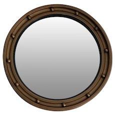 Art Deco English Convex Bullseye Mirror, Circa 1930
