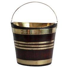 Antique Dutch Mahogany & Brass Bucket, Wine Cooler, Jardiniere