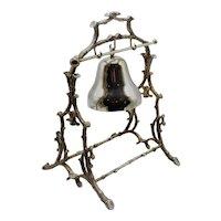 Art Nouveau Silver Plate Bell Dinner Gong