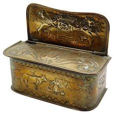 Antique Dutch Brass Candle Box