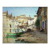 Martigues Impressionist Oil on Canvas Robert Chailloux (1913 - 2006)