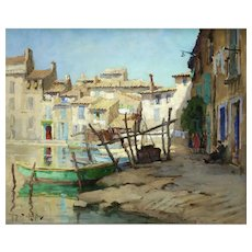 Martigues Impressionist Oil on Canvas Robert Chailloux (1913 - 2006)