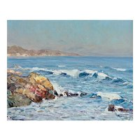 'Saint Maxime' Andre Beronneau (1886 - 1973) Impressionist Oil Painting