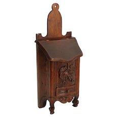 Antique Diminutive French Salt Box Table Cabinet