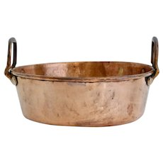 19th-Century Large French Copper Pan