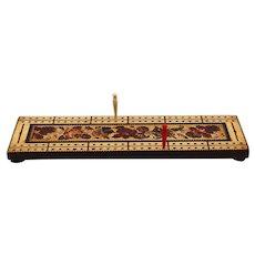 Early English Tunbridge Cribbage Board Game