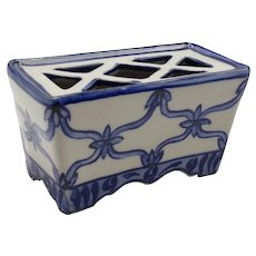 Early Collectible Delft Flower Brick Blue & White