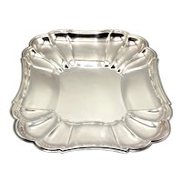 Large Vintage Silver Serving Dish Tray