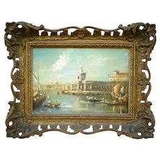 18th-Century Venice Oil Painting Old Master, Guardi