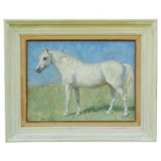 English Equestrian Horse Oil Painting on Canvas