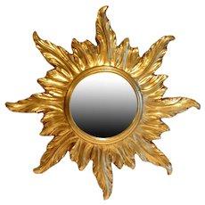 Vintage Italian Sunburst Gilt Mirror