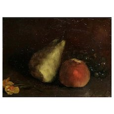 Antique Still Life Oil Painting, Francois Bonvin (1817-1887)