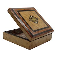 Antique French Boulle & Marquetry Box