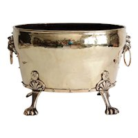 Large English Antique Brass Jardiniere / Planter