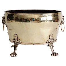 Large English Antique Brass Jardiniere / Planter