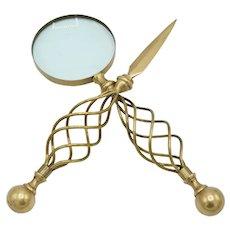 Mid Century Letter Opener & Magnifying Glass Set