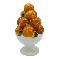 Italian Majolica Ceramic Fruit Topiary