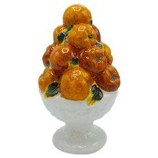 Italian Majolica Ceramic Fruit Topiary