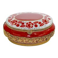 Large Porcelain French Jewelry Box