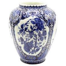 Dutch Delft Blue & White Vase