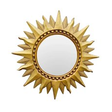Mid Century French Gilt Sunburst Mirror