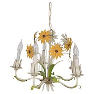 Italian Tole Sunflower Chandelier