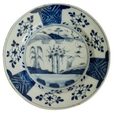 18th-Century Dutch Delft Chinoiserie Charger