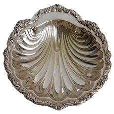 Vintage Silver Plate Shell Dish Bowl