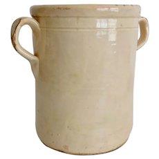 Large Antique Italian Confit Jar Pottery Pot