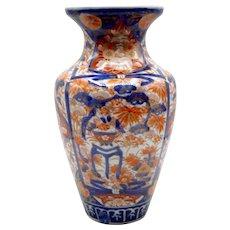 "19th-Century Japanese Imari Porcelain Vase, 12"""