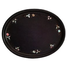 19th-Century English Lacquered Papier Mache Tray