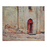 Mid Century Orientalist Watercolor Painting, P Reynard French Artist