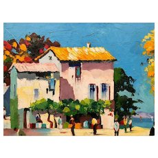 French Impressionist Oil Painting 'View of Saint Tropez',  Cecil Rochfort d'Oyly-John Listed Artist