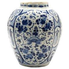 18th-Century Dutch Delft Bulbous Vase