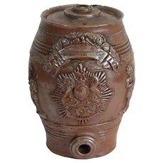 Antique English Stoneware Spirits Barrel, Salt Glazed
