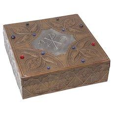 Art Nouveau Repoussé Box Attrib to Alfred Daguet