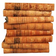 Decorative Leather Books II, Set of 8, Marble Boards
