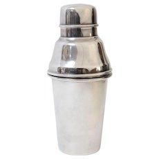 English Art Deco Silver Cocktail Shaker
