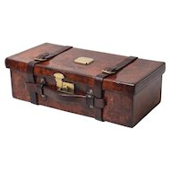 Antique Leather Cartridge Case, English