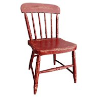 Early American Americana Child's Chair Original Paint Folk Art