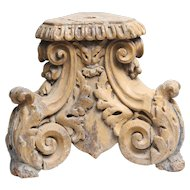 18th-Century Italian Corinthian Column Element