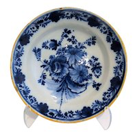 18th Century Dutch Delft Wall Plate