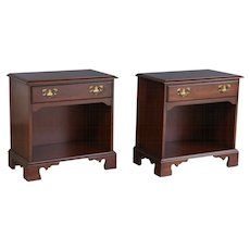 Federal Style Cherry Side Tables, Pair